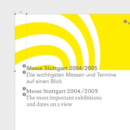 Corporate Design Messe Stuttgart von Hesse Design