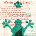 "Poster ""Wrote are Bleidr"" with the lyricist Peter Oprach. By Klaus Hesse ©2004"