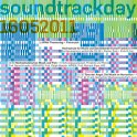 "Poster ""Soundtrackday"" for events and lectures in cooperation with the Justus-Liebig-University Giessen and the University of Music and Performing Arts Frankfurt. Design Klaus Hesse ©2011"